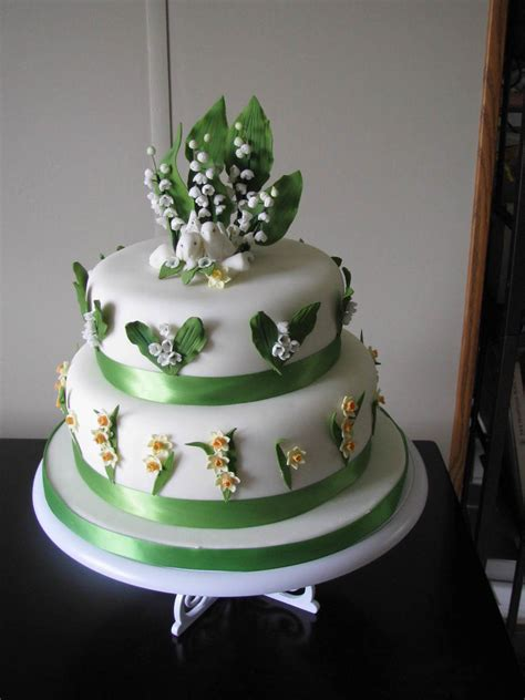 Lily Of The Valley Wedding Cake - CakeCentral