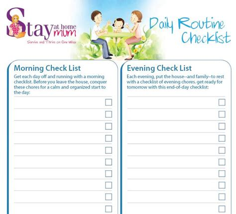 Daily Routine Check-list | Stay at Home Mum | Daily