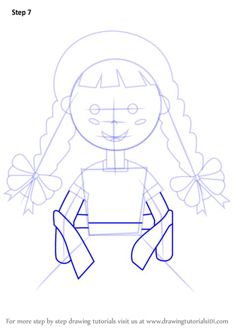 Learn How to Draw a Girl with China Poblana Dress (Fashion