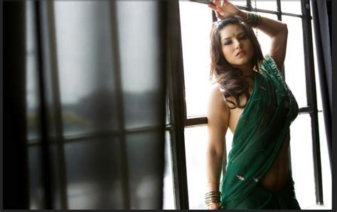 Sunny Leone in Green Saree - More Indian Bollywood Actress