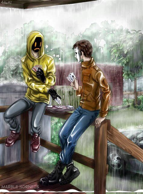Masky and hoodie marble hornets I wonder if this is a