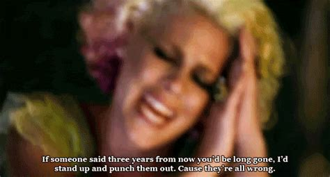 P!nk (Pink), Who Knew Quote (About wrong three years punch