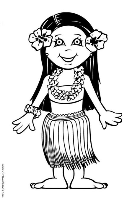Coloring Page Leilani - free printable coloring pages